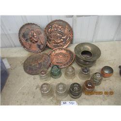 Spattoon, Insulators,  & Copper Art