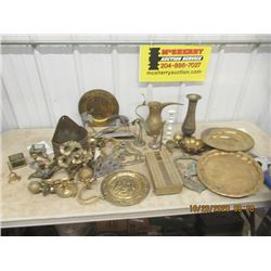Quantity of Brass Ornaments & Dishes