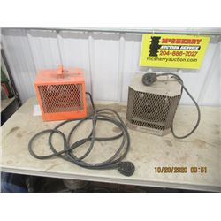 2 Construction Heaters 1 with Long Cord