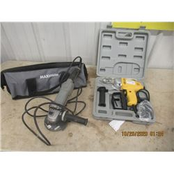 2 Items - New Drill & Angle Grinder