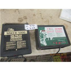 2 Elec Fencers - 1) Baker 5000 1) Shur Shock 31000 Watt - New Condition