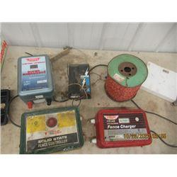 4 Elec Fencers 2) Parcmak - 1 Is 30 Mile , 1 is 50 Mile,  1) Shur Shock  1) Stinger Battery Fencer