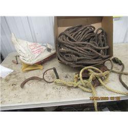 Cyclone Grass Seeder, Bale Hooks, Rope & Rope TIghtener