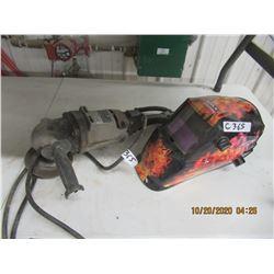 Auto Flash Welding Helmet &  HD Angle Grinder