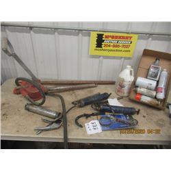 Barrel Pump , Slip Tank Pump, Grease Guns, Filter Wrenchesm Various Oils & Lubes