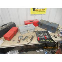 5 Tool Boxes, New File Set, Air Blower, & Ball Hitch