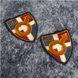 """Austin Powers in Goldmember – """"British Intelligence Academy"""" Patches - A785"""