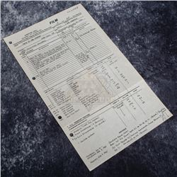 Back to the Future - Original Production Call Sheet (46th Day of Filming) - A576