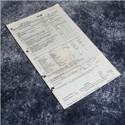 Back to the Future - Original Production Call Sheet (81st Day of Filming) - A622