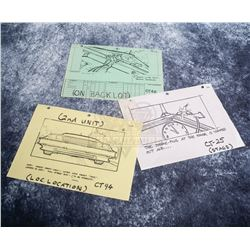 Back to the Future - Set of Production Used Storyboard Prints - A586
