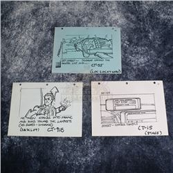 Back to the Future - Set of Production Used Storyboard Prints - A627