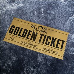 Charlie and the Chocolate Factory – Prop Wonka Golden Ticket – A787