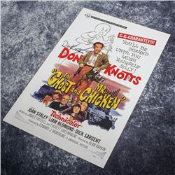 Ghost and Mr. Chicken, The – Don Knotts Autographed Poster – A591