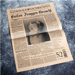 Muppets Most Wanted – Prop Newspaper Featuring Kermit The Frog – A832