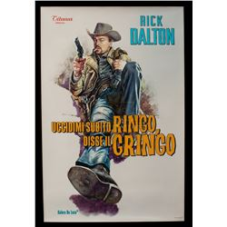 """Once Upon a Time... in Hollywood – """"Uccidimi Subito Ringo, Disse il Gringo"""" Poster - A882"""