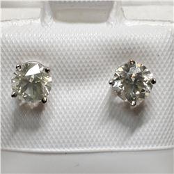 14K DIAMOND(0.98CT) EARRINGS
