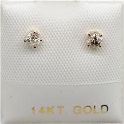 14K DIAMOND(0.18CT) EARRINGS