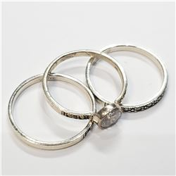 SILVER LOTS OF 3 RING