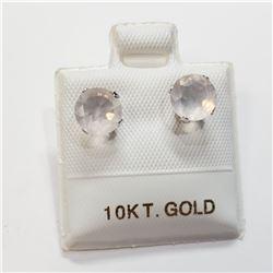 10K ROSE QUARTZ (1.6CT) EARRINGS