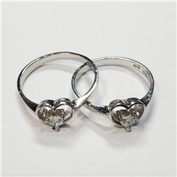 SILVER LOTS OF 2  RING