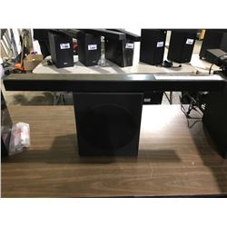 SAMSUNG SOUND BAR (HW-R550) & SAMSUNG SUBWOOFER (PS-WR65BB) UNTESTED (WITH 1 CORD)