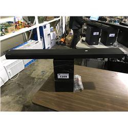 SAMSUNG SOUND BAR (HW-Q70T) & SAMSUNG SUBWOOFER (PS-WK450) UNTESTED (NO CORDS)