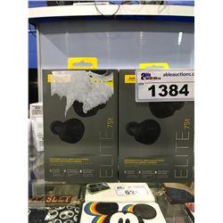 2 JABRA GN ELITE 75T WIRELESS HEADPHONES (UNTESTED)