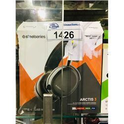 STEELSERIES ARCTIS 3 ALL PLATFORM WIRED GAMING HEADSET (UNTESTED)