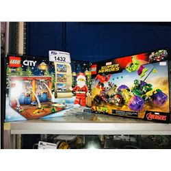 2 NEW IN BOX LEGO SETS: CITY & MARVEL SUPER HEROES