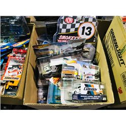 BOX OF ASSORTED NEW IN PACKAGING TOY CARS (GREENLIGHT, HOTWHEELS)