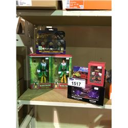 ASSORTED NEW IN PACKAGING TOYS: ELF, WIND RAIDER/ ROTON, KNUCKLES, & DUCKTALES BROTHERS