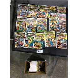 BOX OF ASSORTED CAPTAIN AMERICAN COMICS