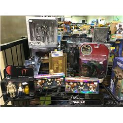 9 NEW IN PACKAGING TOYS/COLLECTIBLES: GREMLINS, IT, ONCE UPON A TIME, GAME OF THRONES, & MORE