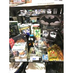 ASSORTED NEW IN PACKAGING TOYS: SOUTH PARK, BATMAN, RICK FLAIR, & MORE