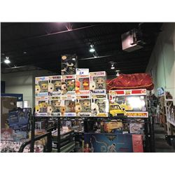 12 NEW IN BOX FUNKO POPS (TOY STORY, BATMAN, UFC, MAD MAX, & MORE) & HARRY POTTER LOUNGE JACKET