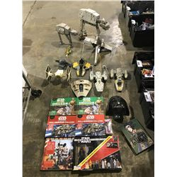 ASSORTED STAR WARS TOYS & BOOKS (SOME NEW IN PACKAGING/SOME DAMAGED)