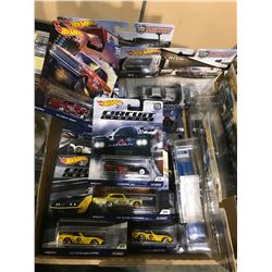 TRAY OF ASSORTED NEW IN PACKAGING TOY CARS (HOT WHEELS)