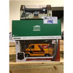 3 NEW IN BOX MODEL CARS: 1976 G-SERIES VAN, CAMPSITE SET, 1967 BELVEDERE GTX
