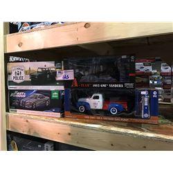 4 NEW IN BOX MODEL CARS: 1950 150, 1983 VANDURA (A-TEAM), 1967 BRONCO POLICE CRUISER, FAST &