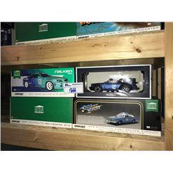 4 NEW IN BOX MODEL CARS: 1967 BELVEDERE GTX, 1999 SKYLINE GT-R, PORSCHE 911, 1975 FURY POLICE