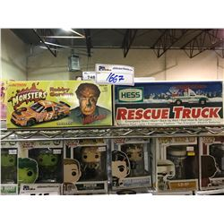 2 NEW IN BOX MODEL CARS: UNIVERSAL STUDIOS MONSTERS ROBBY GORDON THE WOLFMAN & HESS RESCUE TRUCK
