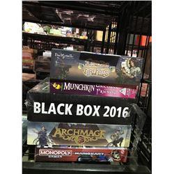 5 NEW IN BOX GAMES: MARIO MONOPOLY, DANCE OF THE FIREFLIES, MUNCHKIN UNICORNS & FRIENDS, & MORE