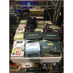TRAY OF ASSORTED NEW IN BOX VINYL FIGURES (ZOOTOPIA, WINNIE THE POOH, STAR WARS, NICKELODEON, & MORE