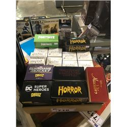 ASSORTED NEW IN BOX COLLECTIBLES & VINYL FIGURES: ALADDIN, HORROR, HARRY POTTER, FORTNITE, & MORE
