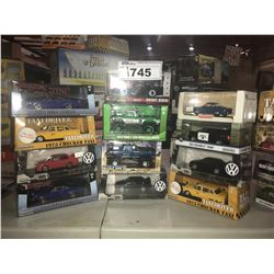 12 NEW IN PACKAGING TOY CARS (GREENLIGHT, AUTO MUSEUM)