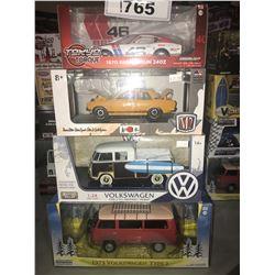 4 NEW IN BOX 1970 240Z, 1970 DATSUN 510, TYPE-2 VAN, 1973 TYPE-2 VAN
