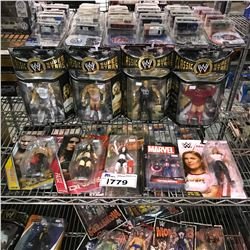8 NEW IN PACKAGING WWE TOYS & CAPTAIN AMERICA