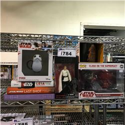 8 NEW IN BOX/PACKAGING STAR WARS PRODUCTS: BOOKS, MUGS, TOYS