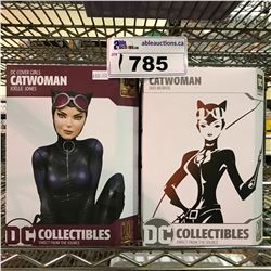 2 NEW IN BOX CAT WOMAN COLLECTIBLE FIGURES