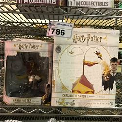 2 NEW IN BOX HARRY POTTER COLLECTIBLE FIGURES